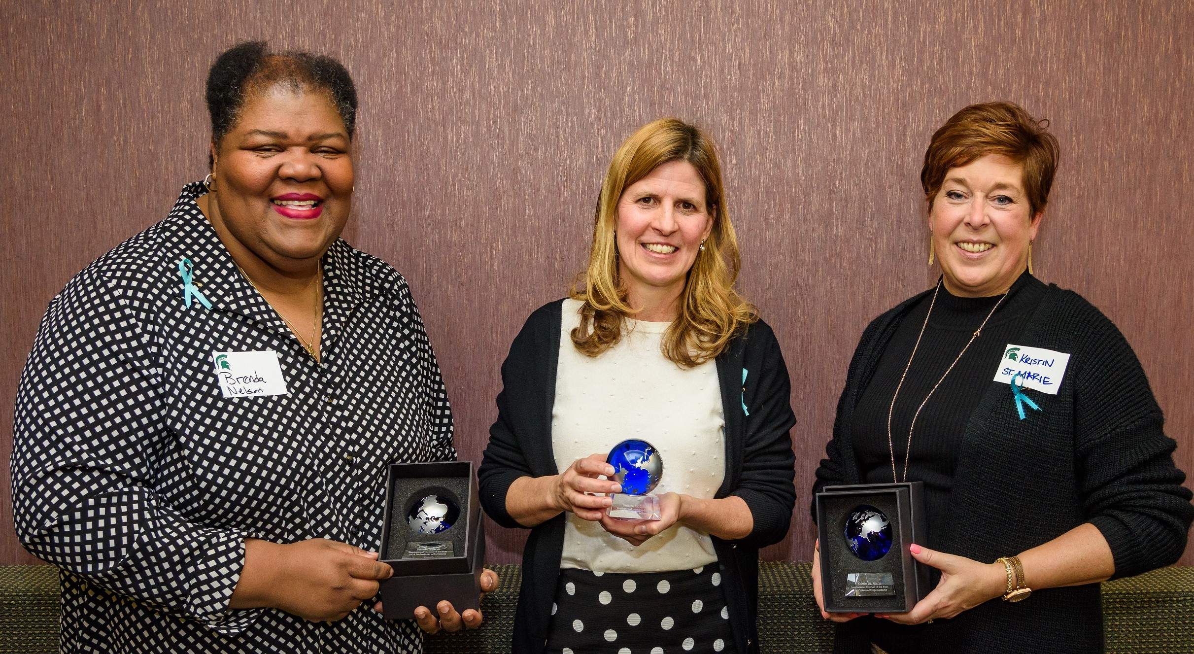 The 2018 Inspirational Woman of the Year Awardees. Left to right: Brenda Nelson, Tamara Reid Bush, and Kristin St. Marie.