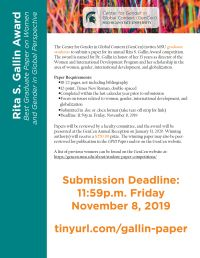 Gallin Paper Competition 2019