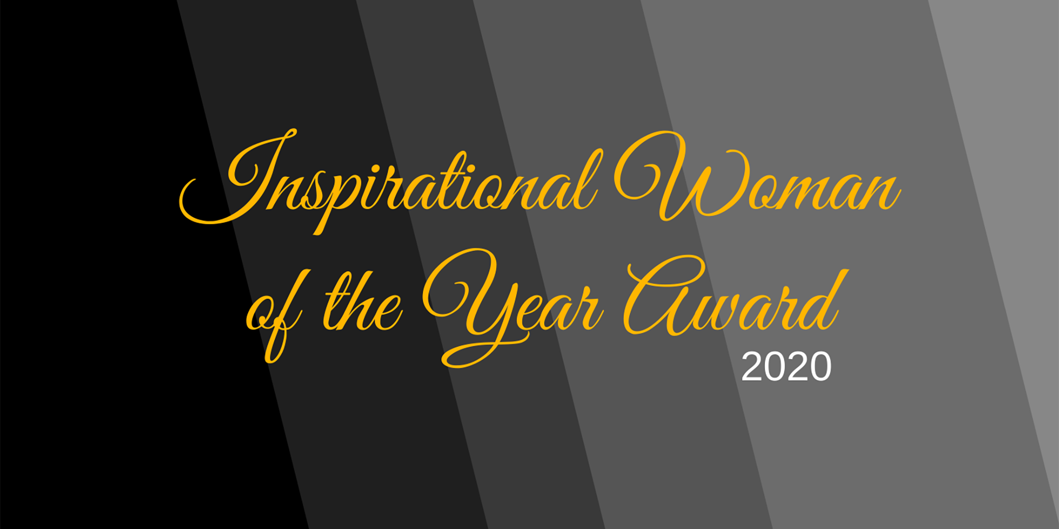 Banner: Inspirational Woman of the Year Award 2020
